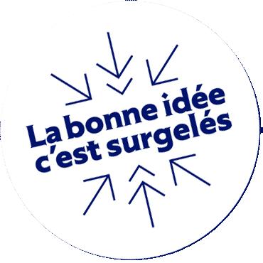 Logo campagne La Bonne idée c'est surgelés