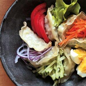 Salade estivale de gyoza