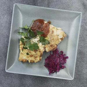 Flan salé de Teppanyaki aux pois chiches et au soja